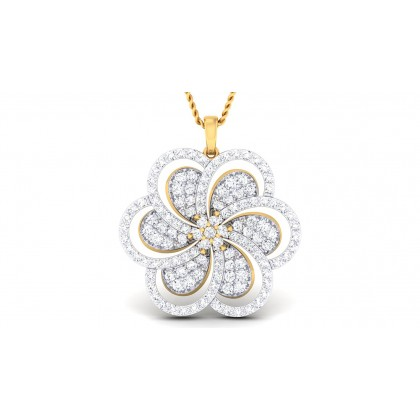 SOPHIA DIAMOND FLORAL PENDANT in 18K Gold