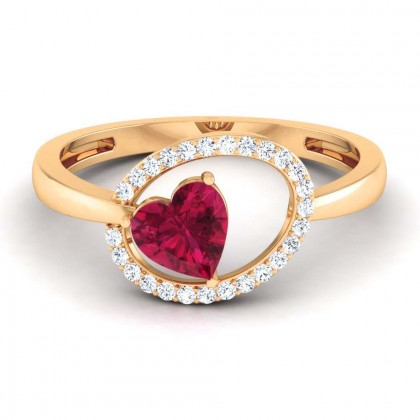 HARPER DIAMOND COCKTAIL RING in Ruby & 18K Gold