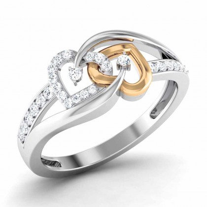 PARKER DIAMOND CASUAL RING in 18K Gold