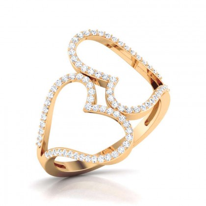 LUCIA DIAMOND CASUAL RING in 18K Gold