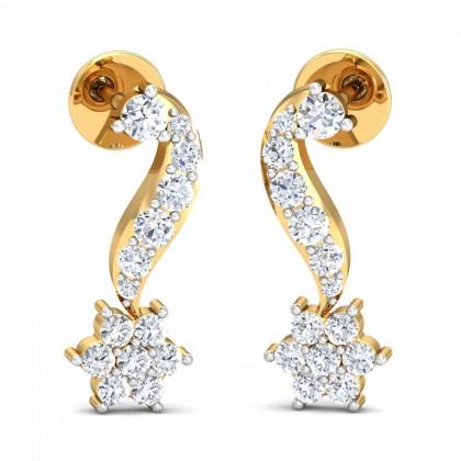 MERCEDEZ DIAMOND STUDS EARRINGS in 18K Gold