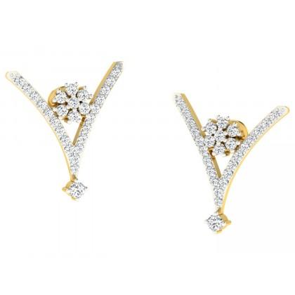 KATHARYN DIAMOND STUDS EARRINGS in 18K Gold