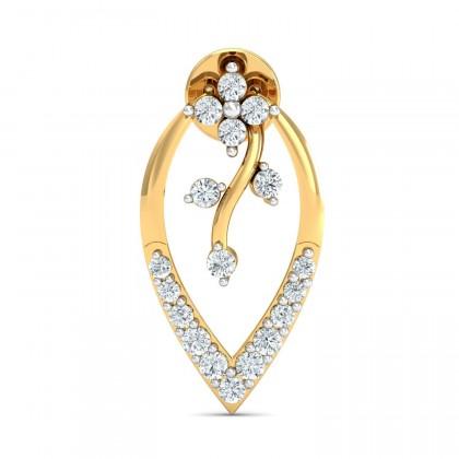 SHANTAE DIAMOND STUDS EARRINGS in 18K Gold