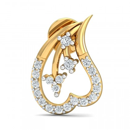 RYANN DIAMOND STUDS EARRINGS in 18K Gold