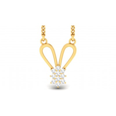 ZIYA DIAMOND FLORAL PENDANT in 18K Gold