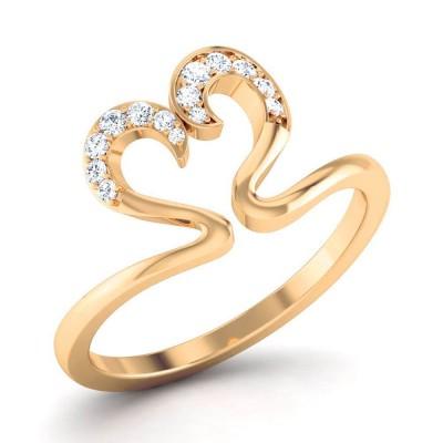 CHERYL DIAMOND CASUAL RING in 18K Gold