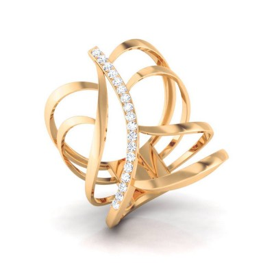 TANUPA DIAMOND COCKTAIL RING in 18K Gold