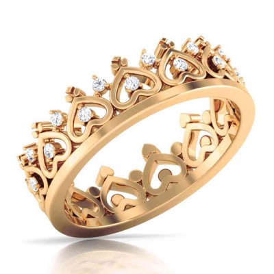 ANGIE DIAMOND CASUAL RING in 18K Gold