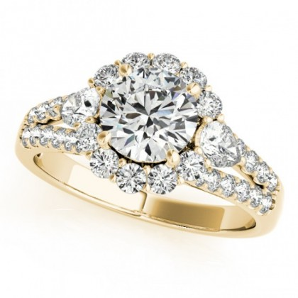 ZOYA ENGAGEMENT RING in 18K Yellow Gold