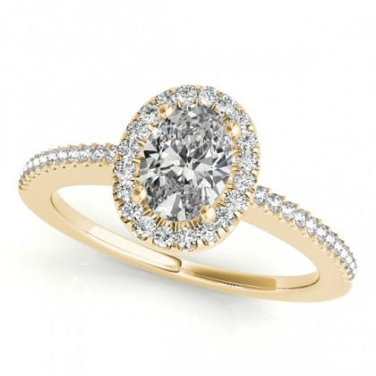 ZIVA ENGAGEMENT RING in 18K Yellow Gold