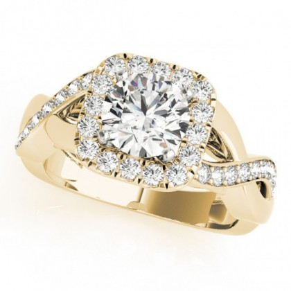 CRYSTAL ENGAGEMENT RING in 18K Yellow Gold