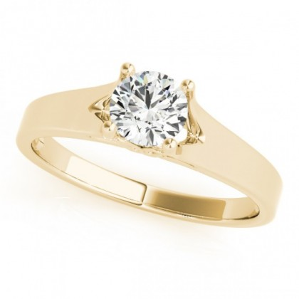 LIZ ENGAGEMENT RING in 18K Yellow Gold