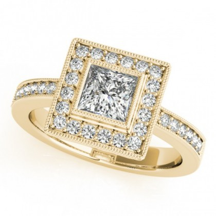 ABBY ENGAGEMENT RING in 18K Yellow Gold