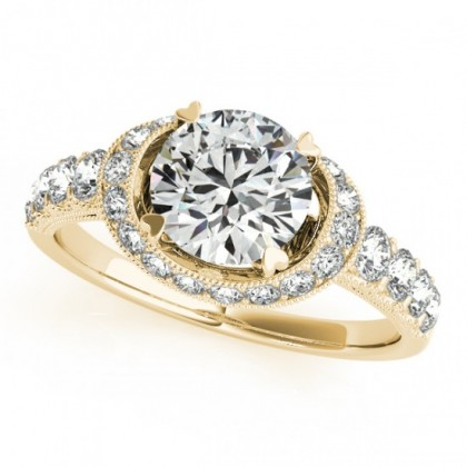 LILA ENGAGEMENT RING in 18K Yellow Gold