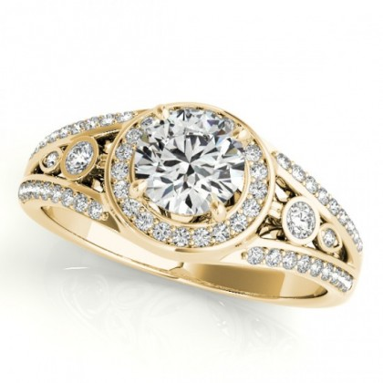 LUCIA ENGAGEMENT RING in 18K Yellow Gold