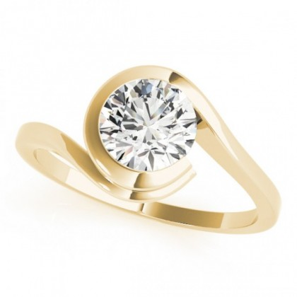 ANGEL ENGAGEMENT RING in 18K Yellow Gold