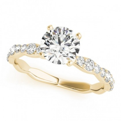 ARIA ENGAGEMENT RING in 18K Yellow Gold