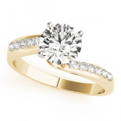 DONNA ENGAGEMENT RING in 18K Yellow Gold