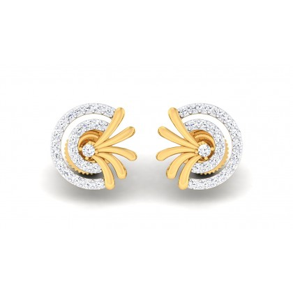 MANDA DIAMOND STUDS EARRINGS in 18K Gold