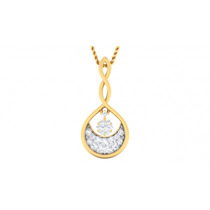 MELANIE DIAMOND FASHION PENDANT in 18K Gold