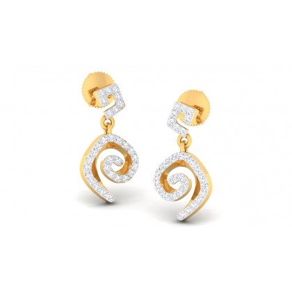 CALISTA DIAMOND DROPS EARRINGS in 18K Gold