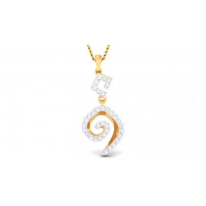 TALIKA DIAMOND FASHION PENDANT in 18K Gold