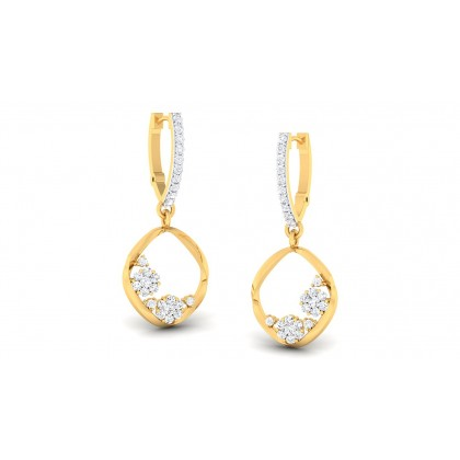 THEA DIAMOND DROPS EARRINGS in 18K Gold