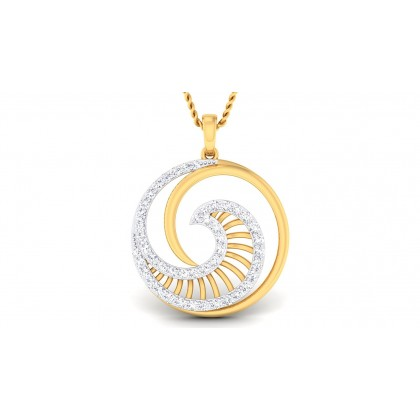 SAMIRA DIAMOND FASHION PENDANT in 18K Gold