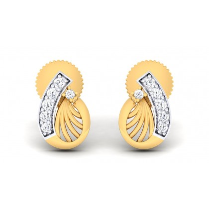 VIMALA DIAMOND STUDS EARRINGS in 18K Gold