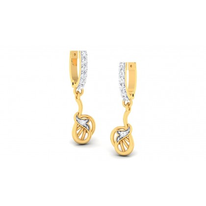 PEYTON DIAMOND DROPS EARRINGS in 18K Gold