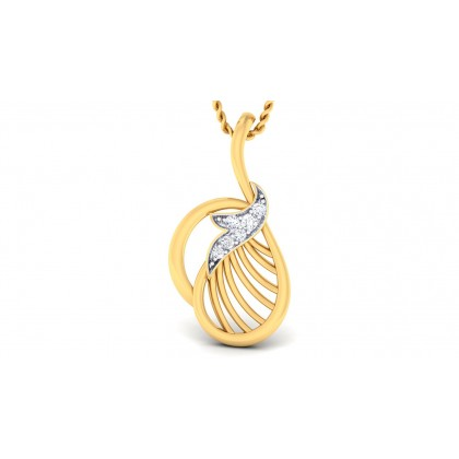 CHARITA DIAMOND FASHION PENDANT in 18K Gold