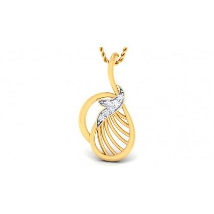 CHARITA DIAMOND FASHION PENDANT in 18K Gold