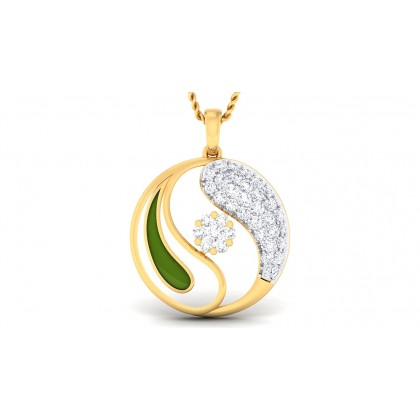 AHANA DIAMOND FLORAL PENDANT in 18K Gold