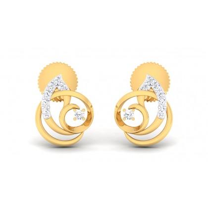 REKHA DIAMOND STUDS EARRINGS in 18K Gold