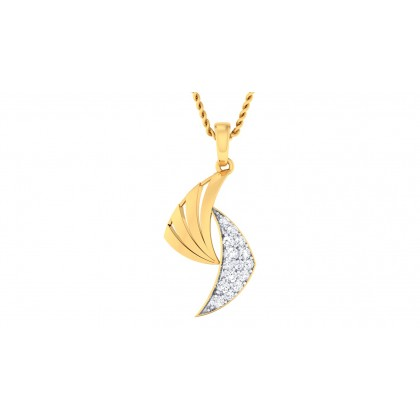 VIOLET DIAMOND FASHION PENDANT in 18K Gold