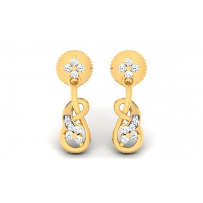 PARVANI DIAMOND DROPS EARRINGS in 18K Gold