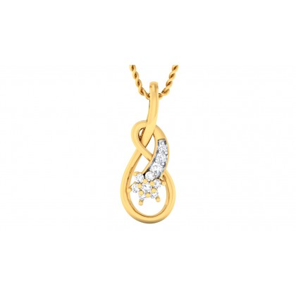 VIPRA DIAMOND FASHION PENDANT in 18K Gold