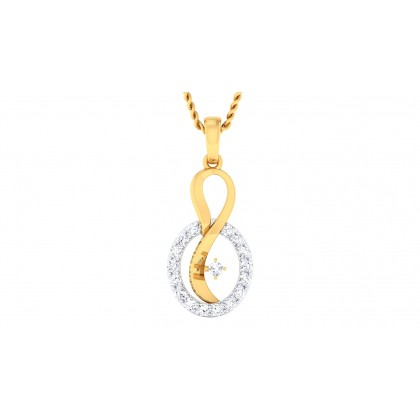 LEILAH DIAMOND FASHION PENDANT in 18K Gold