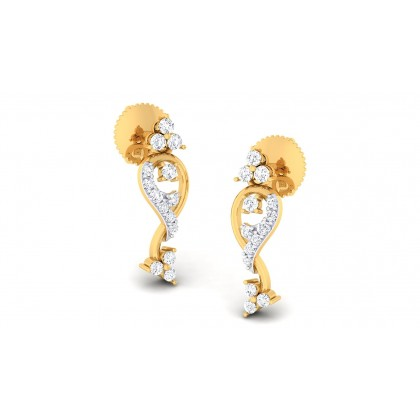 MIYAH DIAMOND DROPS EARRINGS in 18K Gold