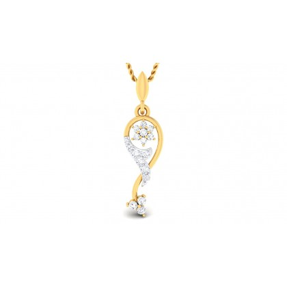 AHALYA DIAMOND FASHION PENDANT in 18K Gold