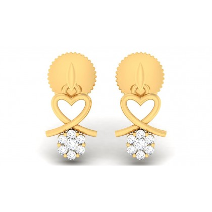 BHANU DIAMOND DROPS EARRINGS in 18K Gold