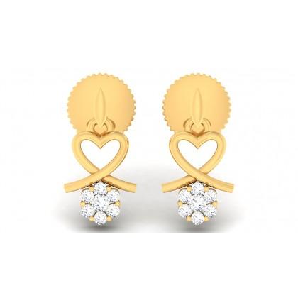 BHANU DIAMOND DROPS EARRINGS in 18K Gold
