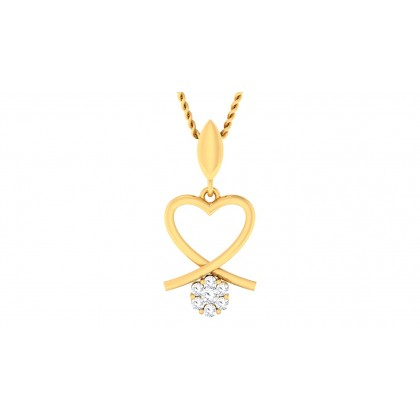 SADHANA DIAMOND HEARTS PENDANT in 18K Gold