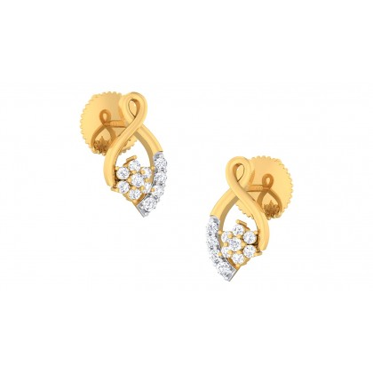 LEA DIAMOND STUDS EARRINGS in 18K Gold