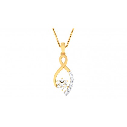 SAGUN DIAMOND FLORAL PENDANT in 18K Gold