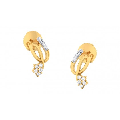 RITHIKA DIAMOND STUDS EARRINGS in 18K Gold