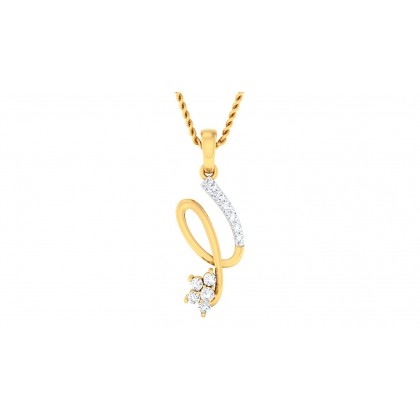 KAYLEN DIAMOND FASHION PENDANT in 18K Gold