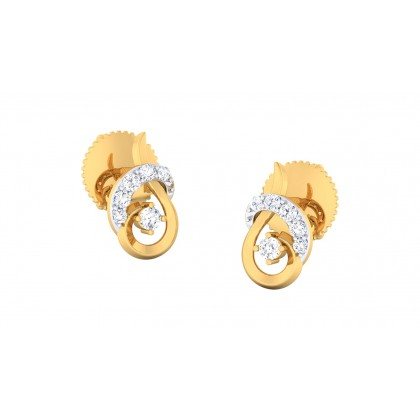 RICHA DIAMOND STUDS EARRINGS in 18K Gold