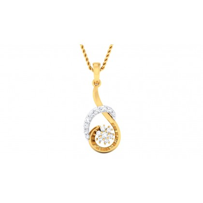 SARINA DIAMOND FLORAL PENDANT in 18K Gold