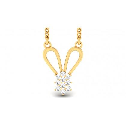 ZIYA DIAMOND FLORAL PENDANT in 18K Gold